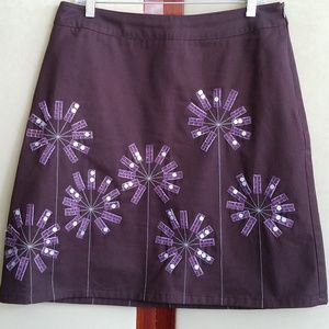 Boden brown and purple skirt size 12